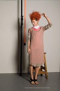 Image of Pink / Taupe Chiffon Dress | Hussein Chalayan