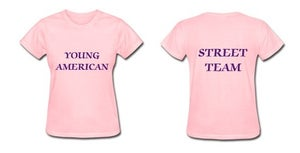 Image of Young American Street Team Shirt- Women