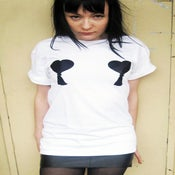 Image of SMUT tassel heart t-shirt