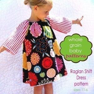 Image of The Raglan Shift Dress sewing pattern