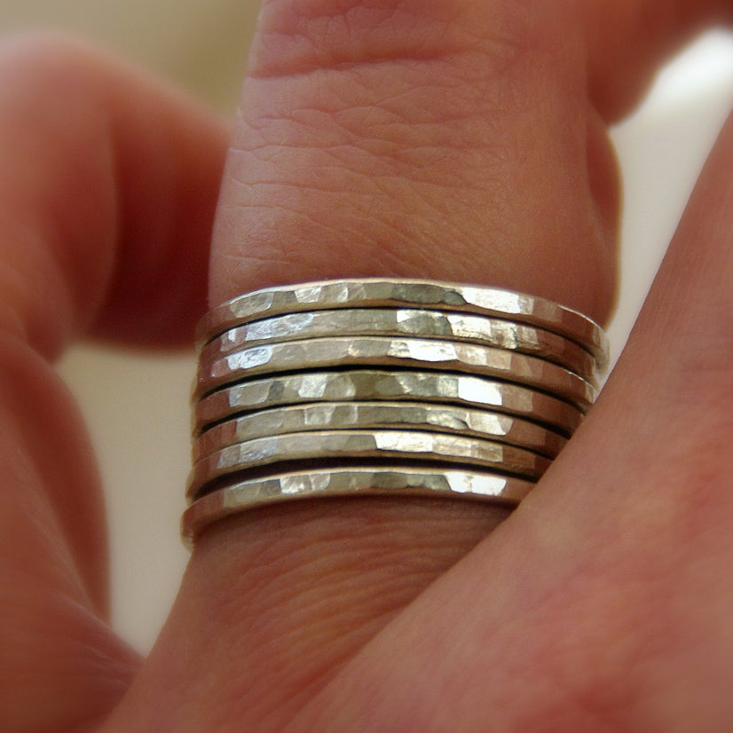 handmade stackable mothers rings stack bangles by nadine