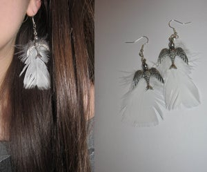 Image of Dovey Feather Earring