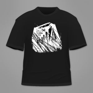 Image of wellspring - the divide 'trestle' t-shirt [black]