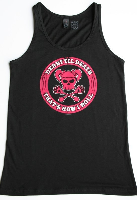 Image of Derby - That's How I Roll - Ladies - Singlet - Black