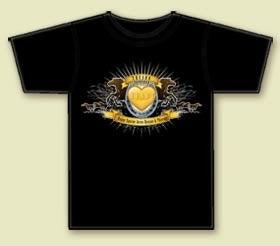 """Image of """"Logo"""" T-Shirt on Black. Men's & Women's."""