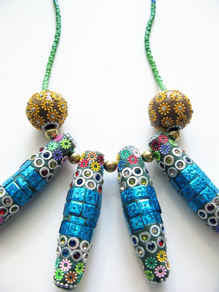 Image of Spike Necklace (Blue)
