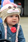 Image of SOCK MONKEY HAT - PINK - Prices starting at $28