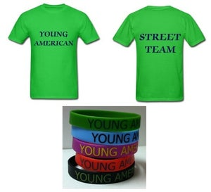 Image of Young American Street Team Shirt Plus Bracelet- Men