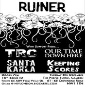 Image of RUINER + Guests - Tuesday 8th December, The Purple Turtle - TICKETS AVAILABLE ON THE DOOR ONLY