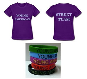 Image of Young American Street Team Shirt Plus Bracelet- Women
