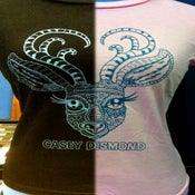 Image of Hand Printed Silk Screen Casey Desmond DEER Tshirt by TOFUSQUIRREL