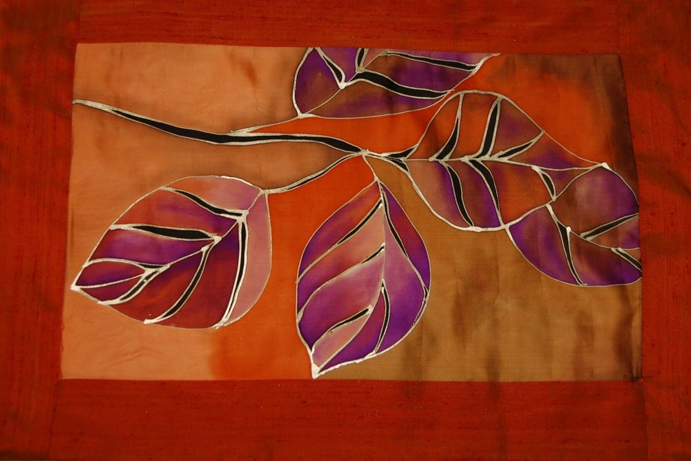 Image of Power Meditation Cushion - Handpainted Silk