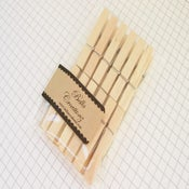 Image of Small Natural Wood Clothespins