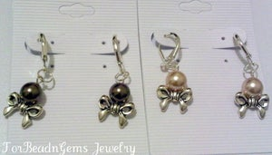 Image of Bows n Pearl Leverbacks