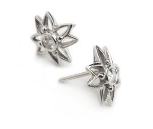 Image of Diamond Flower Earrings