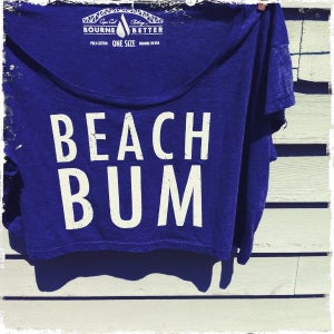 Image of Beach Bum Crop Top / American Blue