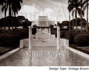 Image of Laie Hawaii LDS Mormon Temple Art 001 - Personalized LDS Temple Art