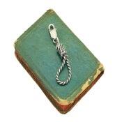 Image of Silver Hangman's Noose Zipperpull