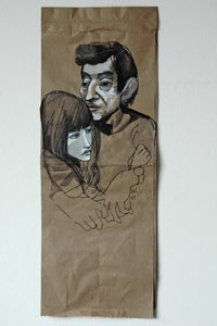 Image of paper bag couple