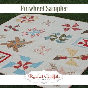 Image of pinwheel sampler quilt pattern #105