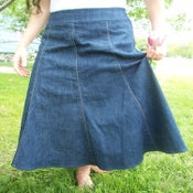 Image of 8-Gored Denim Skirt