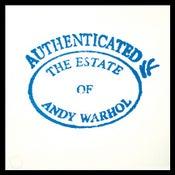 Image of Warhol Estate Stamp