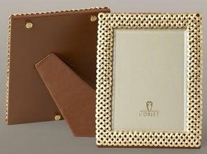 Image of L'Objet Gold Braided Frame