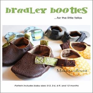 Image of Bradley Baby Booties - PDF sewing pattern
