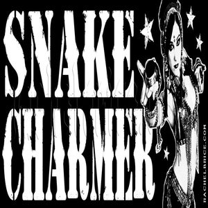 "Image of Retro ""Snake Charmer"" Sticker"