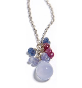 Image of Chalcedony and Ruby Necklace