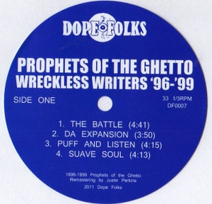 """Image of PROPHETS OF THE GHETTO """"WRECKLESS WRITERS"""" SOLD OUT"""