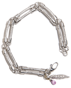 Image of White Gold Bone Bracelet