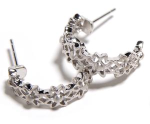 Image of Silver Hoop Earrings