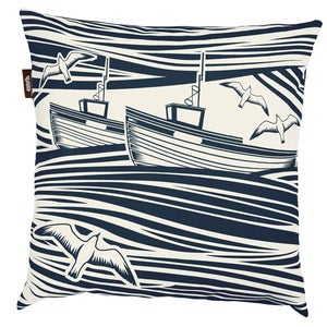 Image of Whitby Cushion - Indigo