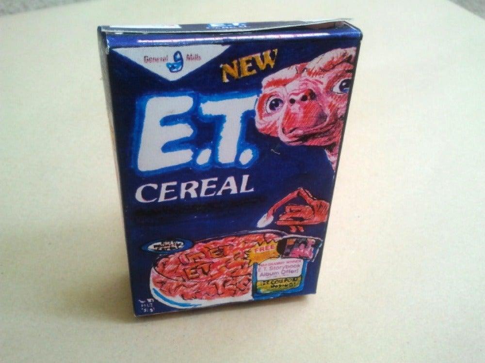 Image of E.T Cereal mini zine box