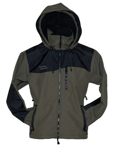 Image of Shavano Jacket 2 Layer Polartec Sage Green Exterior Made in Colorado