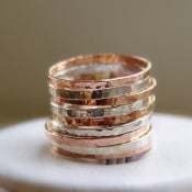 Image of Stackable Rings Silver & Rose Gold