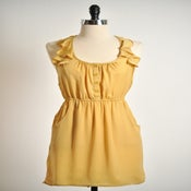 Image of Alfresco Dress in Mustard