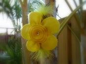 Image of Yellow Felt Flower Hairband