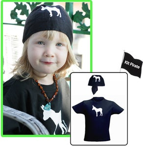Image of Kit Pirate : Tee-shirt et bandana assortis