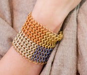 Image of Brass Four Color Cuff B (9-Row)