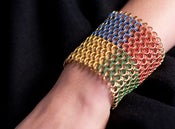 Image of Brass Four Color Cuff A (9-Row)