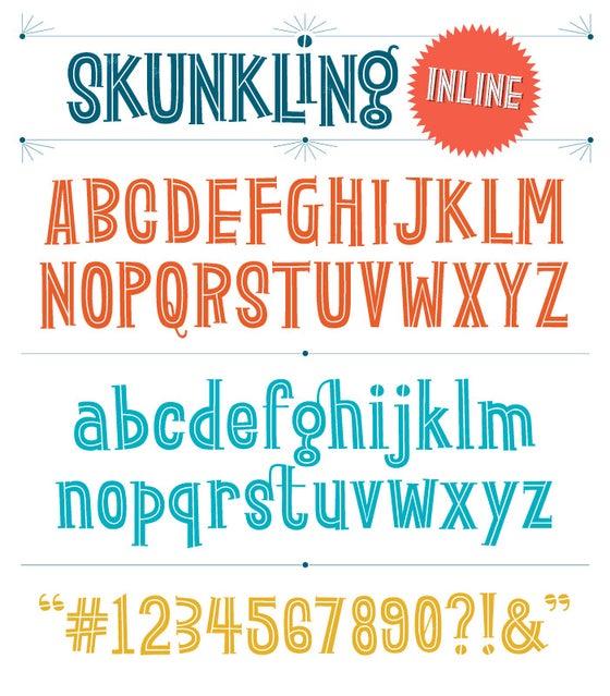 Image of Skunkling Inline Font