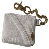 Image of White/Gold PD Alligator Utility Pouch