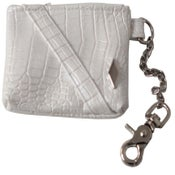 Image of White/Silver PD Alligator Utility Pouch