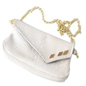 Image of White/Gold PD Purse/Clutch/Fanny