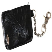 Image of Black/Silver PD Alligator Utility Pouch