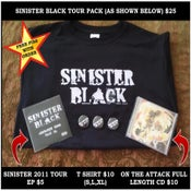 Image of Sinister Black 2011 Tour Pack