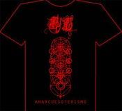 Image of Bathory Legion's Anarcoesoterismo Tshirt Red Print