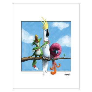 """Image of """"Not of a Feather"""" Bird Trio Print"""
